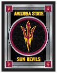 Arizona State Mirror w/ Sun Devils Pitchfork Logo - Wood Frame