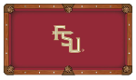 Florida State Pool Table Cloth w/ Seminoles Logo by Hainsworth