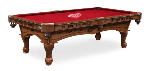 Detroit Pool Table w/ Red Wings Logo - Engraved Decor