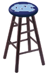 North Carolina Stool w/ Maple Swivel Base - Dark Cherry Finish
