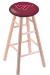 Virginia Tech Stool w/ Maple Swivel Base - Natural Finish