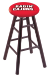 Louisiana Lafayette Stool w/ Oak Swivel Base - Dark Cherry Finish