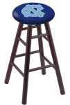 North Carolina Stool w/ Oak Swivel Base - Dark Cherry Finish
