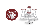 Mississippi State Bulldogs Bar Stools (Set of 4)