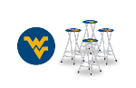West Virginia Mountaineers Bar Stools (Set of 4)