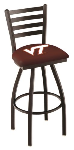 Virginia Tech Bar Stool w/ Hokies Logo Swivel Seat - L014