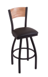 Texas Christian Stool Cushion Swivel Seat - Engraved Logo Back