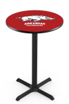 Arkansas Pub Table w/ Razorbacks Logo - L211