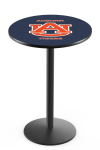 Auburn Pub Table w/ Tigers Logo & Round Base - L214