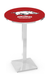 Arkansas Razorbacks L217 Chrome Pub Table