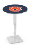 Auburn Tigers L217 Chrome Pub Table