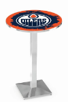Edmonton Oilers L217 Chrome Pub Table
