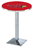Illinois State Redbirds L217 Chrome Pub Table