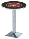 US Marine Corp L217 Chrome Pub Table