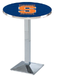 Syracuse Orange L217 Chrome Pub Table