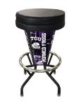 "Texas Christian Bar Stool w/ Horned Frogs Logo Swivel Seat - 30"" Lighted"