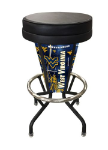 "West Virginia Bar Stool w/ Mountaineers Logo Swivel Seat - 30"" Lighted"