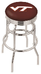 Virginia Tech Bar Stool w/ Hokies Logo Swivel Seat - L7C3C