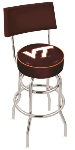 Virginia Tech Bar Stool w/ Hokies Logo Swivel Seat - L7C4