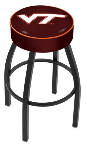 Virginia Tech Bar Stool w/ Hokies Logo Swivel Seat - L8B1