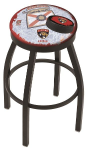 "Florida Bar Stool w/ Panthers Logo Swivel Seat - 18"" L8B2B-D2"