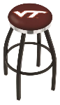 Virginia Tech Bar Stool w/ Hokies Logo Swivel Seat - L8B2C