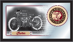 Indian Motorcycle Mirror w/ Collector Heritage Logo - Wood Frame