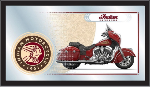 Indian Motorcycle Mirror Collector Series Logo - Wood Frame
