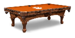 Clemson Pool Table w/ Tigers Logo - Engraved Decor