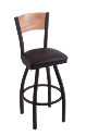 Washington State Stool Cushion Swivel Seat - Engraved Logo Back