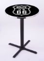 Route 66 Pub Table w/ Game Room Logo - L211