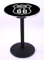 Route 66 Pub Table w/ Gaming Logo & Round Base - L214