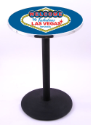 Welcome to Las Vegas Pub Table w/ Gaming Logo - L214