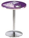 "Northwestern Wildcats Pub Table Chrome 36"" w/ 28"" Top - L214"