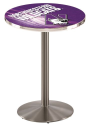 "Northwestern Wildcats Pub Table Stainless 42"" w/ 28"" Top - L214"