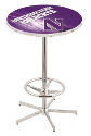 "Northwestern Wildcats Pub Table Chrome 42"" w/ 28"" Top - L216"
