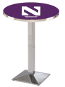 Northwestern Wildcats L217 Chrome Pub Table