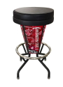 "Washington State Bar Stool w/ Cougars Logo Swivel Seat - 30"" Lighted"