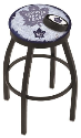 "Toronto Bar Stool w/ Maple Leafs Logo Swivel Seat - 18"" L8B2B-D2"