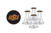 Oklahoma State Cowboys Bar Stools (Set of 4)