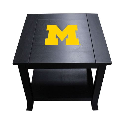 Michigan End Table With Wolverines Logo Reversible Insert