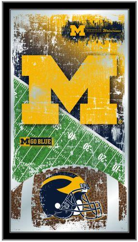 Michigan Wolverines Football Logo Mirror Team Logo Mirrors
