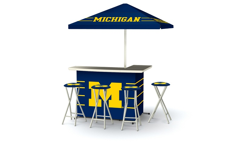 Michigan Wolverines Deluxe Portable Bar Affordable Bars